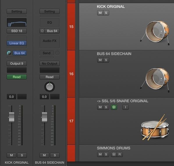 Mixing Kicks: Frequencies, Tones, Tuning & Transients Logic Pro X Sidechain Bus Setup