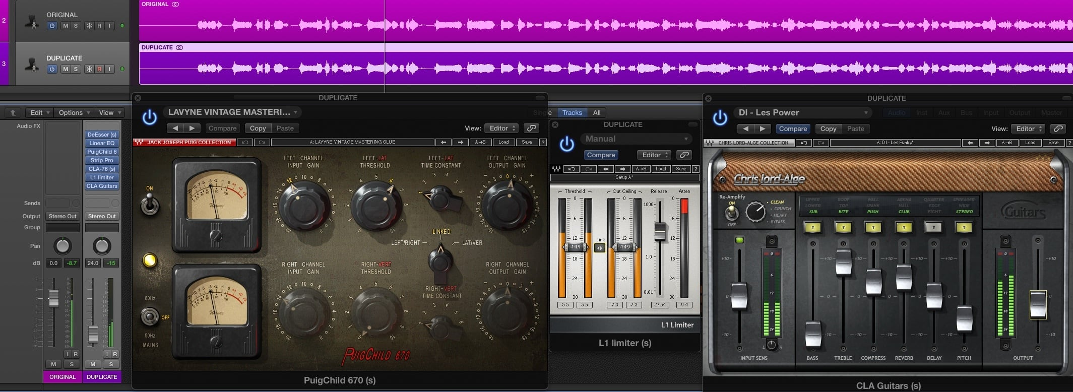 parallel processing plugins logic pro x